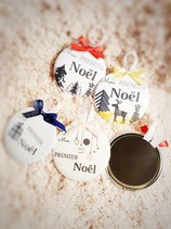 Boule de noël badge Mon 1er Noël