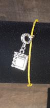Bracelet breloque livre