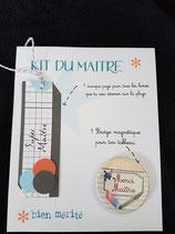 Kit Maître magnet et marque page