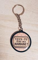 Porte clé Veux tu être ma Marraine ?