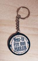 Porte clé Veux tu être mon parrain ?