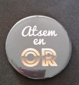 Badge miroir ATSEM en Or