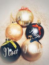 Votre boule de Noël personnalisée