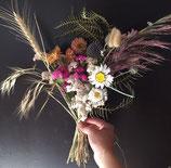 Petits bouquets banc d'église ou cérémonie laique (en fleurs séchées à partir de mi-juillet)