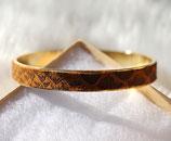 Bracelet or et cuir marron serpent
