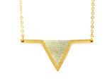 """collier """"aztèque"""" champagne doré à l'or fin 24K"""