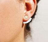 Boucles d'oreilles de lobe rond devant, multironds derrière