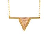 """collier """"aztèque"""" saumon brillant doré à l'or fin 24K"""