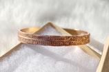 Bracelet bangle or rose texturé