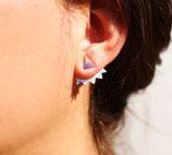 Boucles d'oreilles de lobe triangle devant, multitriangles derrière
