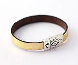 Bracelet fermoir aimanté aztèque doré