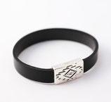 Bracelet fermoir aimanté aztèque noir