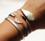 """bracelet """"plum's"""" couleur champagne doré à l'or fin 24K"""