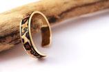 Bracelet jonc doré 10 mm en cuir à poils léopard