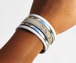 """Bracelet manchette en cuir """"Python"""""""