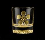 黄金のショットグラス 梅鉢紋
