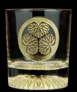 黄金のロックグラス 三つ葉葵