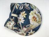 Blüten Fascinator blau beige mit Schleife