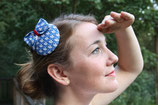 Mini Fascinator  blau mit Segelbooten