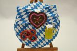 """Fascinator blau/weiß kariert mit Schleife """"Oktoberfest"""""""