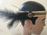 20 er Jahre Flapper gold/schwarzer Stirnband