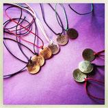 braccialetti in ottone o rame con cordino in cotone cerato