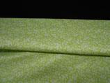 Grüner Baumwollstoff  mit Blümchen