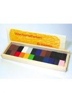 ブロッククレヨン 24色木箱