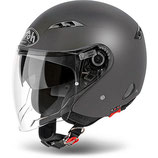 CASCO AIROH JET CITY ONE COLOR DOPPIA VISIERA ANTRACITE MATT
