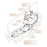 MARMITTA SITO PLUS APRILIA SCARABEO 50 i.e. (2001 - 2004 motore D-tech) CODICE 0591