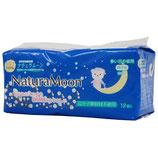 ナチュラムーン 生理用ナプキン 多い日の夜用(羽なし)12個入り