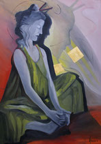 Meditation. oil on canvas 70x100cm