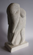Elefantino 10x15x30cm Marmor