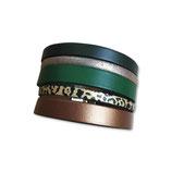 Manchette en cuir JOA by RISTMIK vert- ref202041
