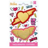 Decora - Love cutters 2 psc