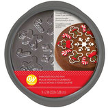 WILTON EMBOSSED ROUND PAN GINGERBREAD Ø22,8CM