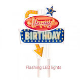 Culpitt Taarttopper Happy Birthday LED 87x135x15mm