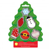 WILTON COOKIE CUTTER TREE SET/6