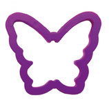 BUTTERFLY PLASTIC COOKIE CUTTER 7 X 6 X H 2 CM