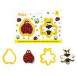 Decora - Ladybug & Bee cutter 2pcs
