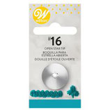 WILTON DECORATING TIP #016 OPEN STAR CARDED