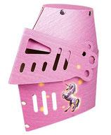 Ritterhelm Pink aus Karton