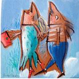 Sammelfreund Familie Fisch geht aus