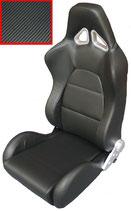 JACKY Auto-Sport, Sportsitz WRX mit Laufschienen,carbon inox-schwarz