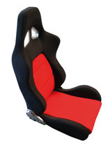 JACKY Auto-Sport, Sportsitz WRX mit Laufschienen,schwarz-rot