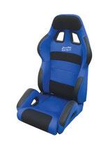 JACKY Auto-Sport, Sportsitz RACING mit Laufschienen,blau