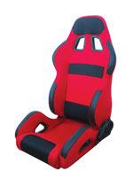 JACKY Auto-Sport, Sportsitz RACING mit Laufschienen,rot