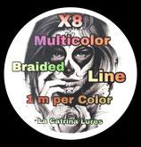La Catrina Lures X8 Multicolor PE Braid