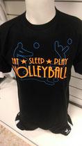 Volleyball Eat Sleep schwarz/neonblau/neonorange