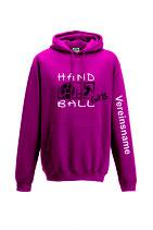 Kapuze Handball Girls pink/weiß/schwarz